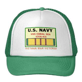 CVA-43 CORAL SEA VIETNAM WAR VET CAP