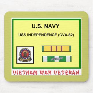 CVA-62 INDEPENDENCE VIETNAM WAR VET MOUSE MAT