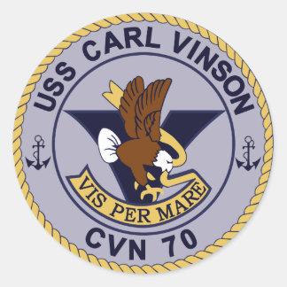CVN-70 CARL VINSON Multi-Purpose Nuclear Round Sticker