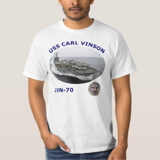 CVN 70 USS CARL VINSON PHOTO T SHIRT