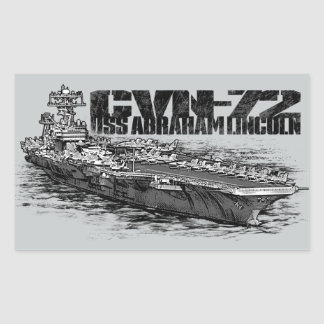 CVN-72 Abraham Lincoln Rectangle Stickers