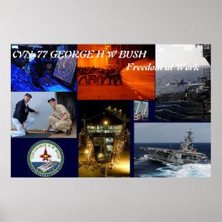 CVN-77 GEORGE H W BUSH PRINT