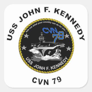 CVN-79 USS John Kennedy Square Sticker