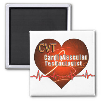 CVT HEART LOGO Cardiovascular Technologist Magnets