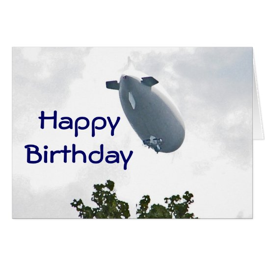 CW- Birthday Blimp Card