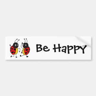 CW- Dancing Ladybugs Bumper Stickers