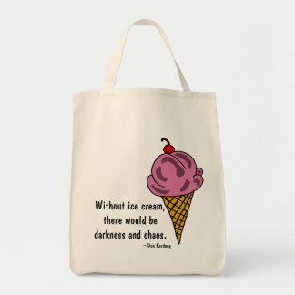 CW- Funny Ice Cream Tote Bag