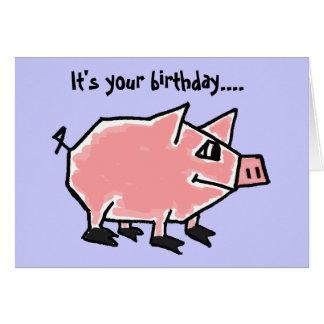 CW- Funny Pig Birthday Card