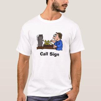 CW Male Brown Hair Operator T-shirt  Customize It!