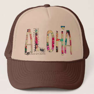 CWA ALOHA COLLAGE Trucker Trucker Hat