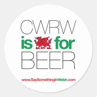 CWRW CLASSIC ROUND STICKER