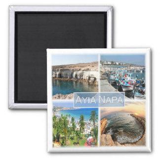 CY * Cyprus - Ayia Napa Square Magnet