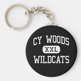 Cy Woods - Wildcats - High School - Cypress Texas Basic Round Button Key Ring