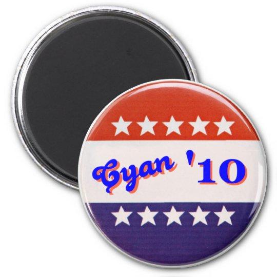 Cyan '10 Magnet