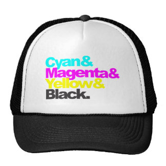 Cyan and Magenta and Yellow and Black Cap