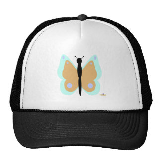 Cyan And Orange Butterfly Cap