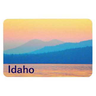 Cyan and Salmon Sunset Rectangular Photo Magnet