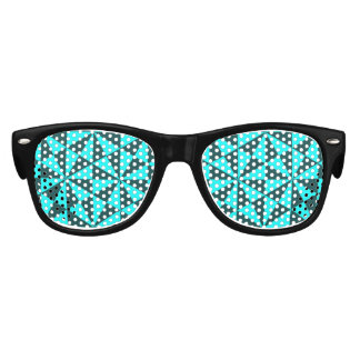 Cyan and teal triangles pattern