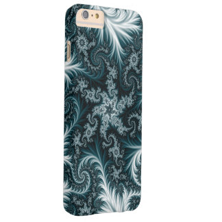 Cyan and white fractal pattern. barely there iPhone 6 plus case