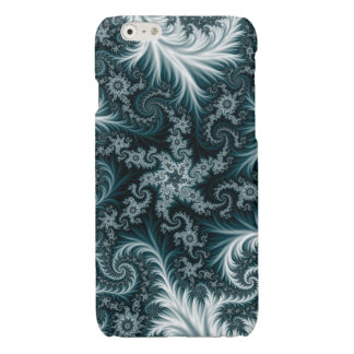Cyan and white fractal pattern. iPhone 6 plus case