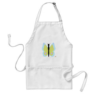Cyan And Yellow Butterfly Aprons