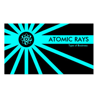 Cyan Atomic Rays Pack Of Standard Business Cards