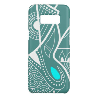 Cyan Blue Eye Serious Elephant Case-Mate Samsung Galaxy S8 Case