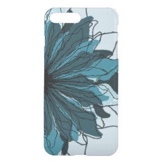 Cyan blue flower petals iPhone 7 plus case