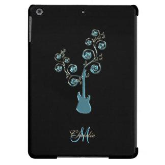 Cyan Blue Guitar Personalized Music iPad Case