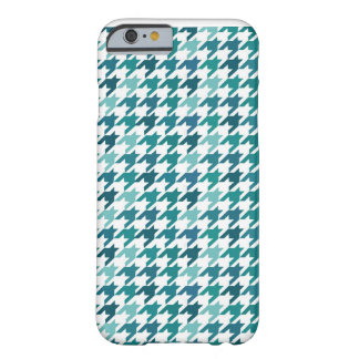 cyan Fashion Print -  cyan Houndstooth Pattern Barely There iPhone 6 Case