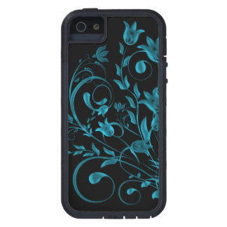Cyan floral Swirl iPhone 5 Case