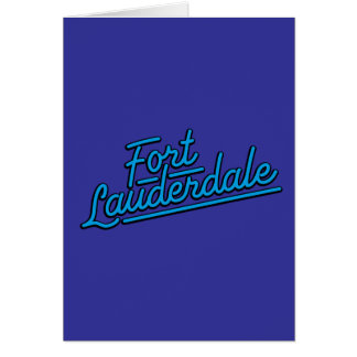 cyan Fort Lauderdale Greeting Cards