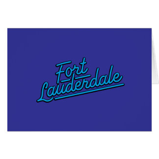 cyan Fort Lauderdale Cards