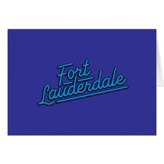 cyan Fort Lauderdale Greeting Card