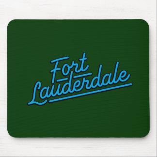 cyan Fort Lauderdale Mousepad
