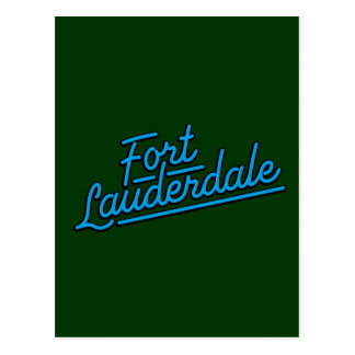 cyan Fort Lauderdale Post Card