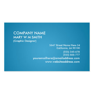 Cyan Gradient Personalized Business Card