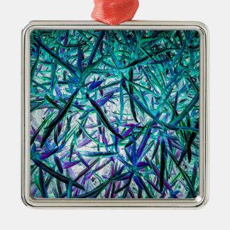 Cyan Grass Ornament