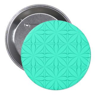 Cyan Large, 3 Inch Round Button