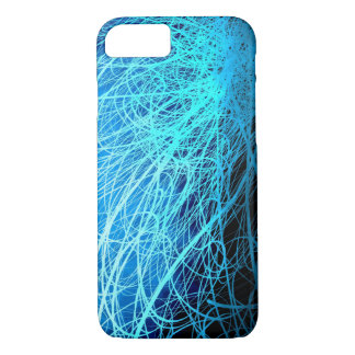 Cyan Linear Explosion2 - Apple iPhone Case