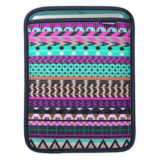 Cyan Magenta Aztec iPad Sleeve