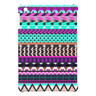 Cyan Magenta Aztec Pattern Case For The iPad Mini