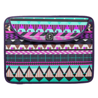 Cyan Magenta Aztec Sleeve For MacBook Pro
