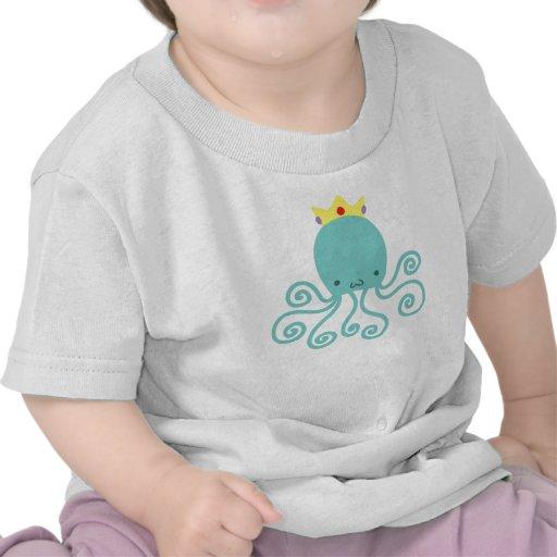 Cyan Octopus Princess Shirts