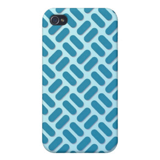 Cyan on Cyan Basket Weave Cover For iPhone 4