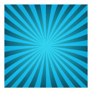 Cyan ray design art photo