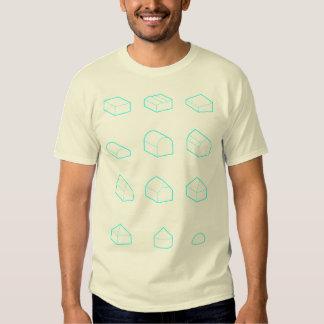 Cyan Roof Forms 3D T-Shirt