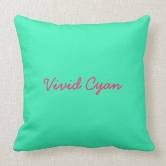 Cyan Solid Throw Pillow