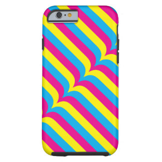 Cyan Yellow Magenta Stripes Geometric Pattern Tough iPhone 6 Case