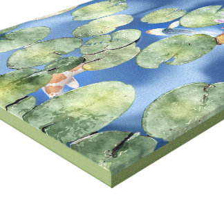 Cyanicity Koi Pond Canvas Artwork (original) Canvas Print